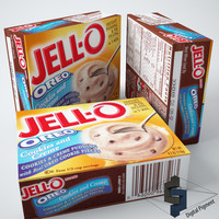 3d model jell-o oreo pudding