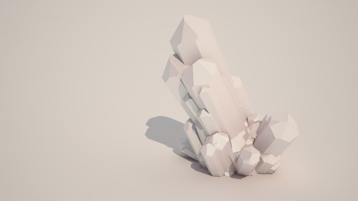 sci fi crystals 3d model