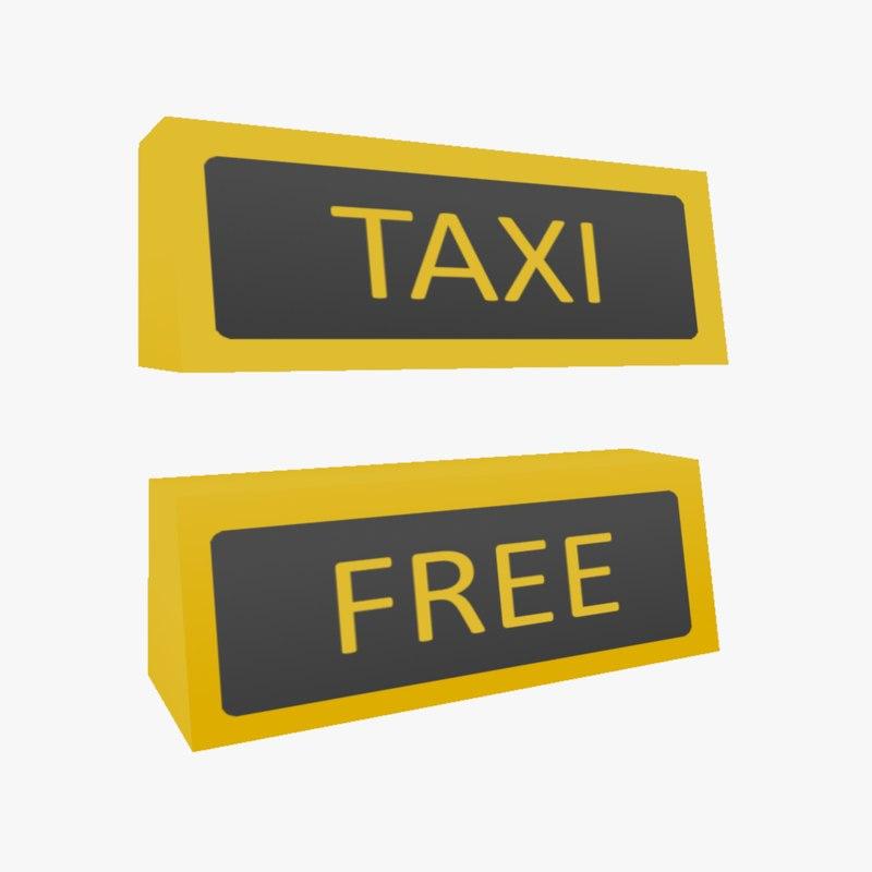 free ready taxi logo 3d model