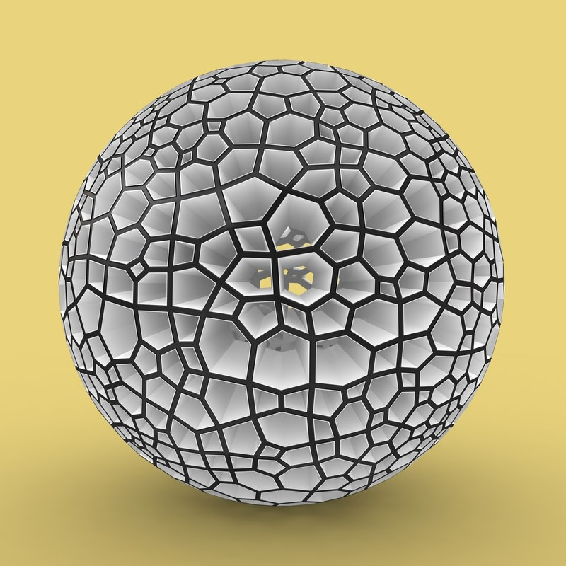 3d model voronoi sphere