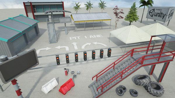 3d race track construction kit: