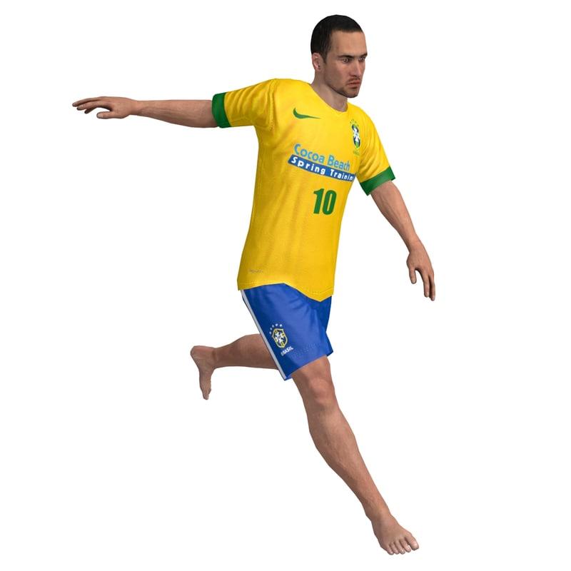 3d beach soccer player