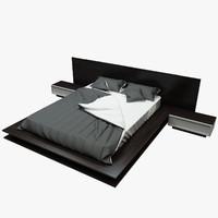 bed wood 3d model