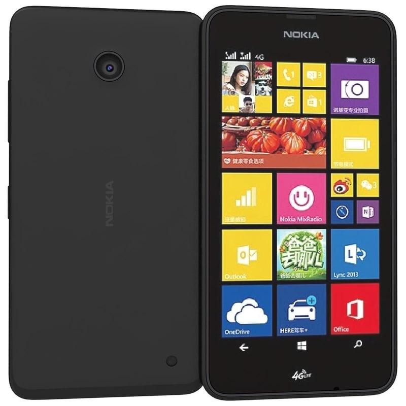 3d nokia lumia 638 black