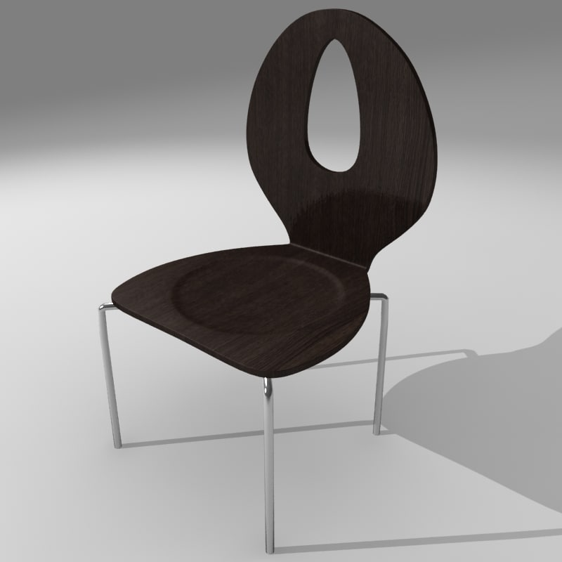 3ds max chair stool
