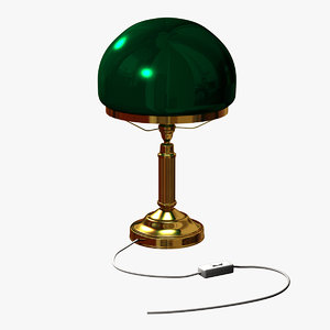 3d model classic lamp brass