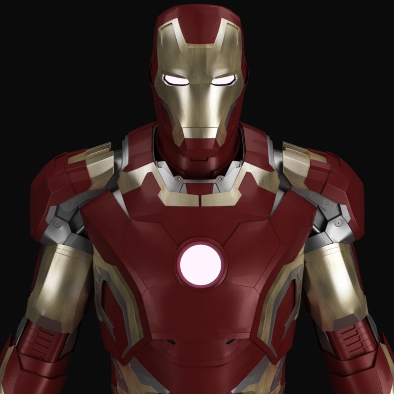 ironman mark armor 3d model