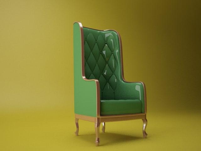 chair sofa 3d 3ds