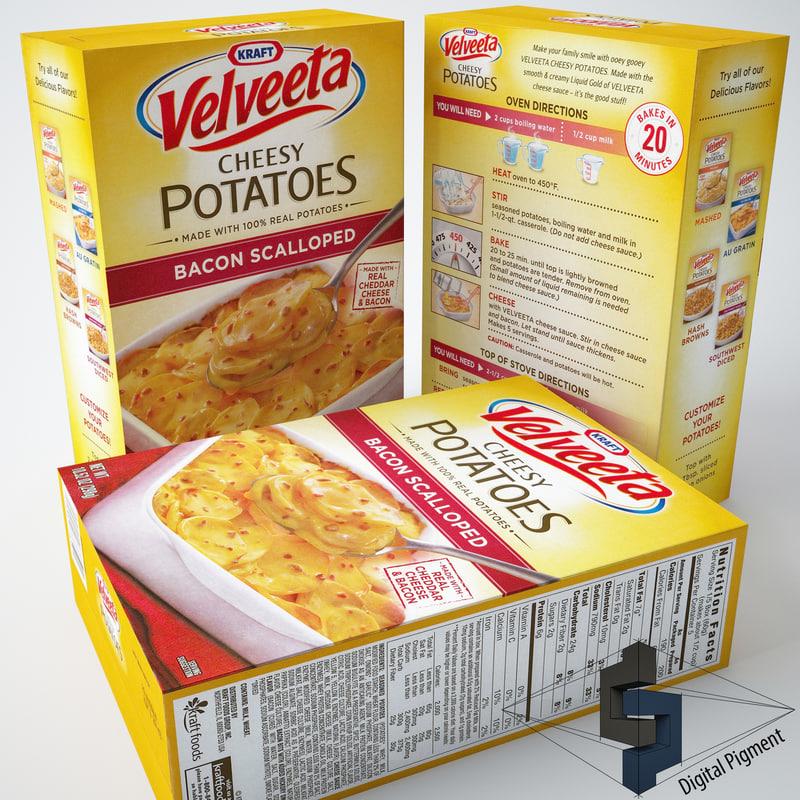 3ds velveeta cheesy potatoes bacon