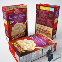 betty roasted garlic potatoes 3d max