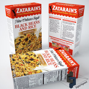 zatarains black beans rice 3d model