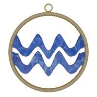 3d aquarius zodiac symbol