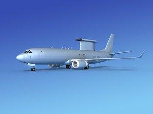 boeing 737-800 e-8 3d 3ds