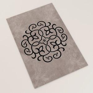 contemporary rug handmade 3d model