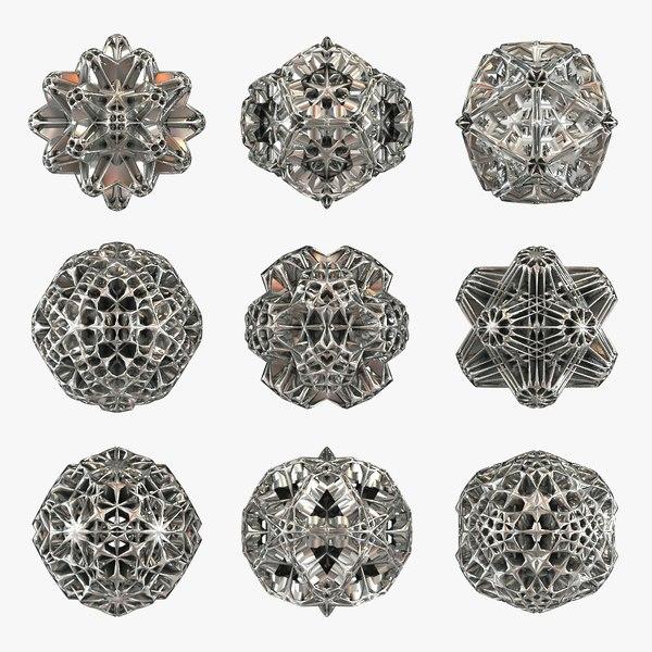 max voronoi hedra 9 shapes
