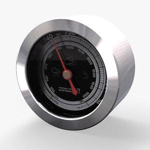 3d model barometer rst meteo ctrl