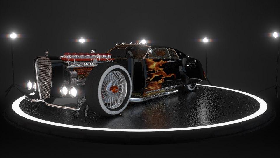 3d model hotrod