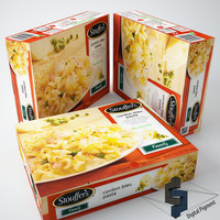 3d stoufers cordon bleu pasta model