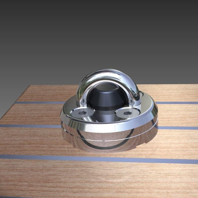 free lewmar pad eye removable 3d model