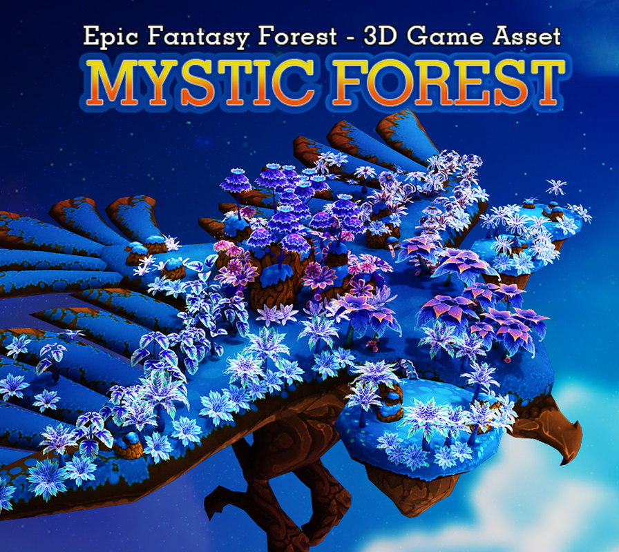 fantasy forest mystic 3d model