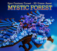 fantasy forest mystic 3d model