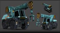 crane aliens 3d obj