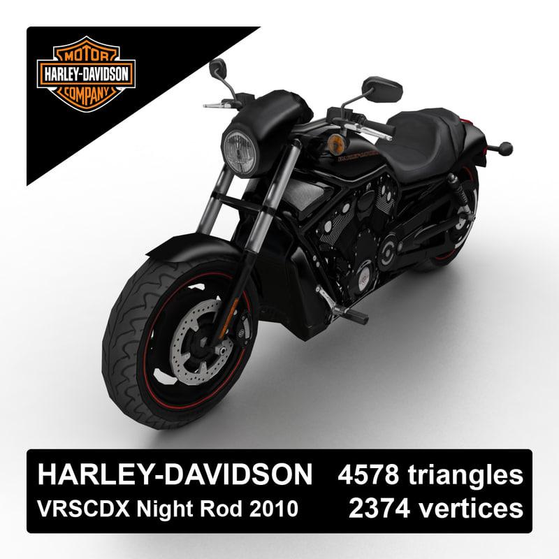 2010 harley-davidson night rod 3d max