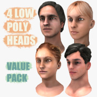 3d model heads female