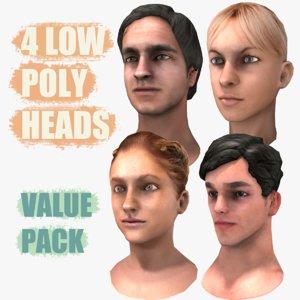 3d model heads female