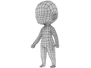 chibi base mesh 3d 3ds