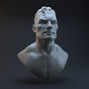 3d model head superman