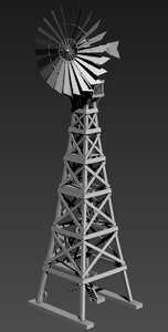 3d model air windmill
