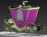 3d cart coach model