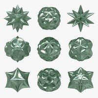 3ds voronoi star 9 shapes