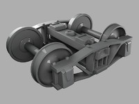 Train Bogie High Poly