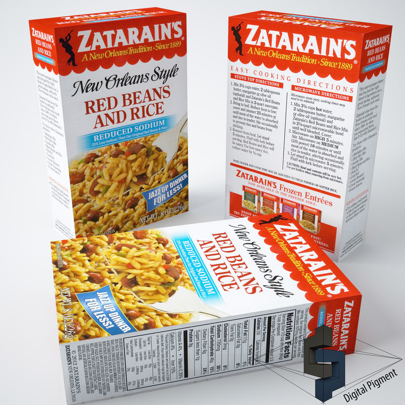 zatarains red beans rice 3d model