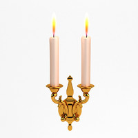 3d candle candlestick baroque
