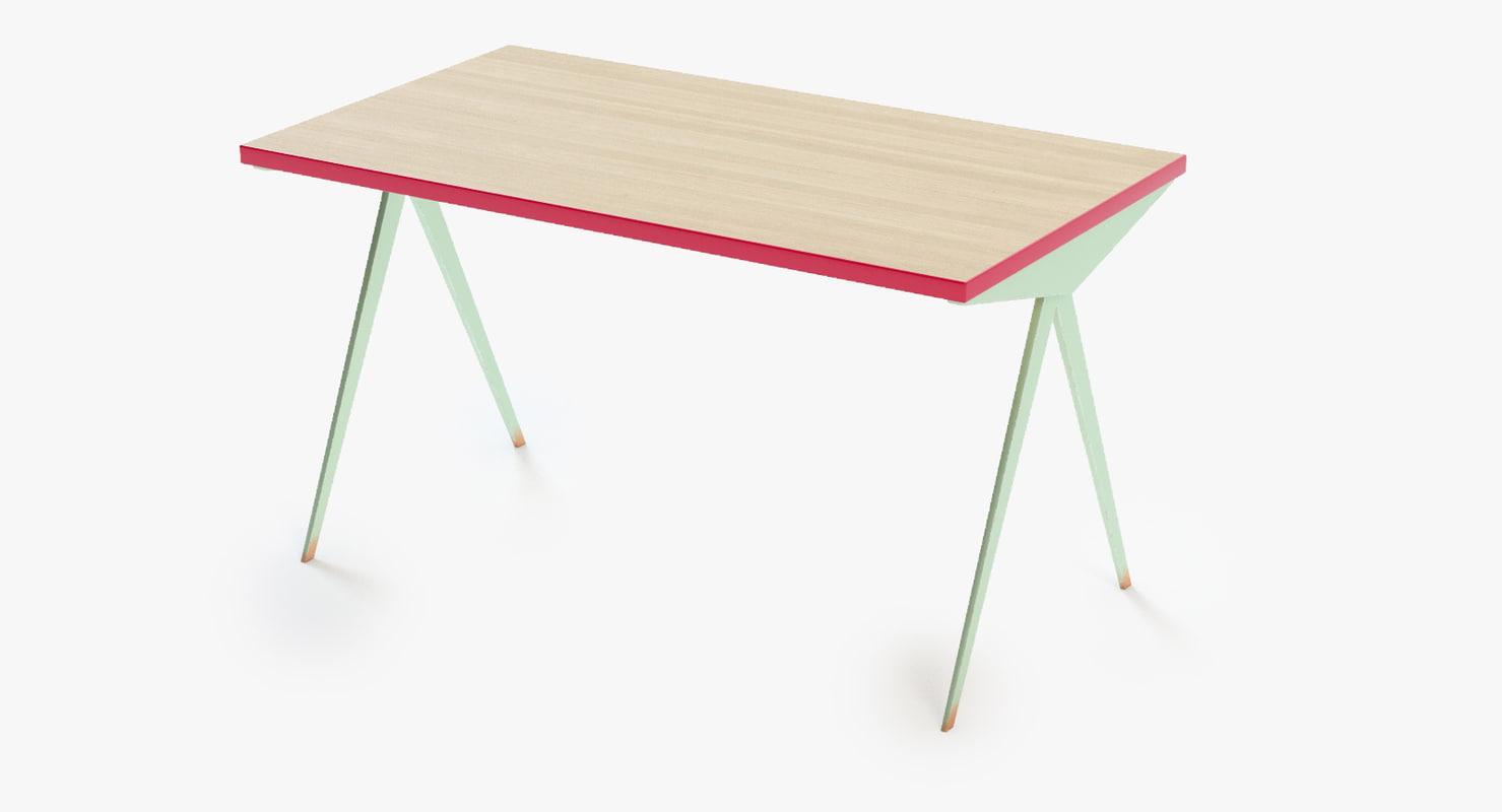 table compas 3d obj