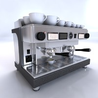 barista coffee machine 3d max