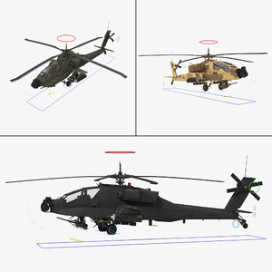 max ah64a apache helicopter rigged