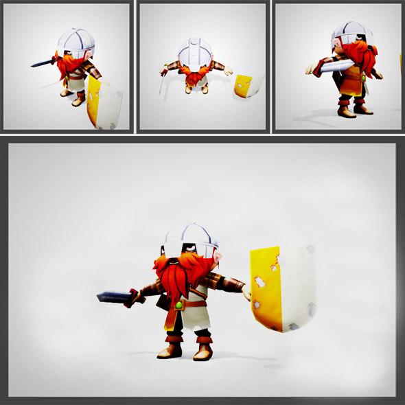 chibi knight - set 3d max