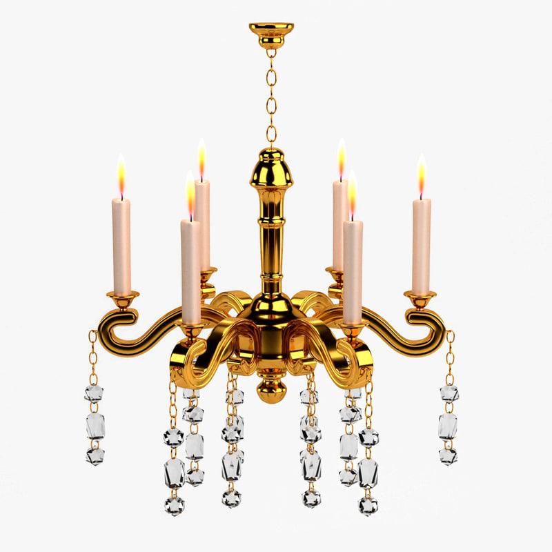 3d baroque chandelier