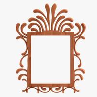 3d antique mirror