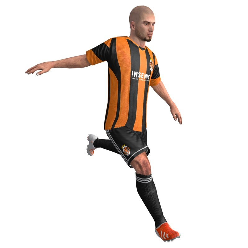 3d rigged soccer player animations model