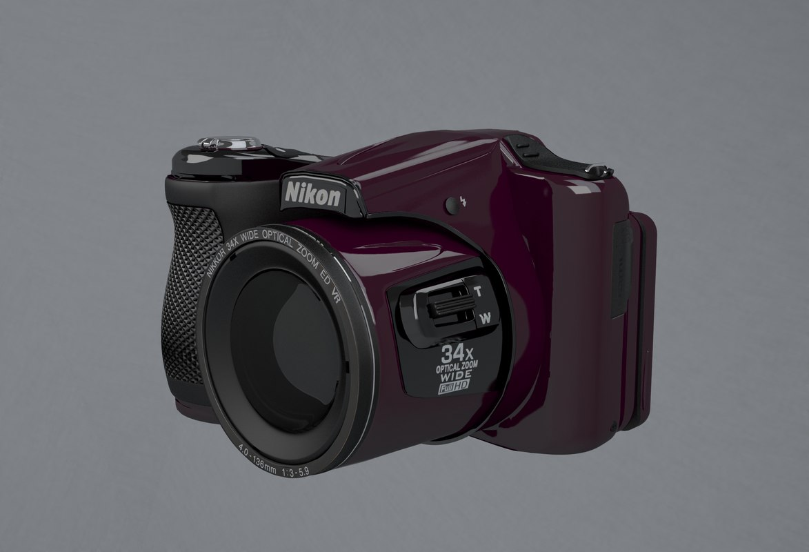 nikon coolpix l830 plum 3d model