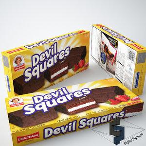 3dsmax little debbie devil squares