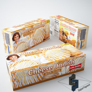 little debbie cheese danish 3d model