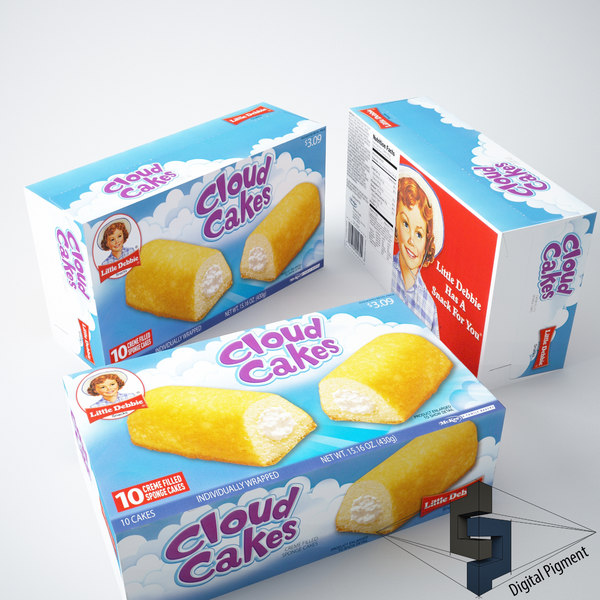 little debbie cloud cake 3d model