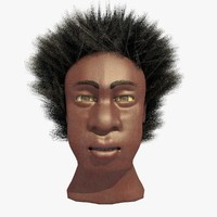 c4d african male afro head