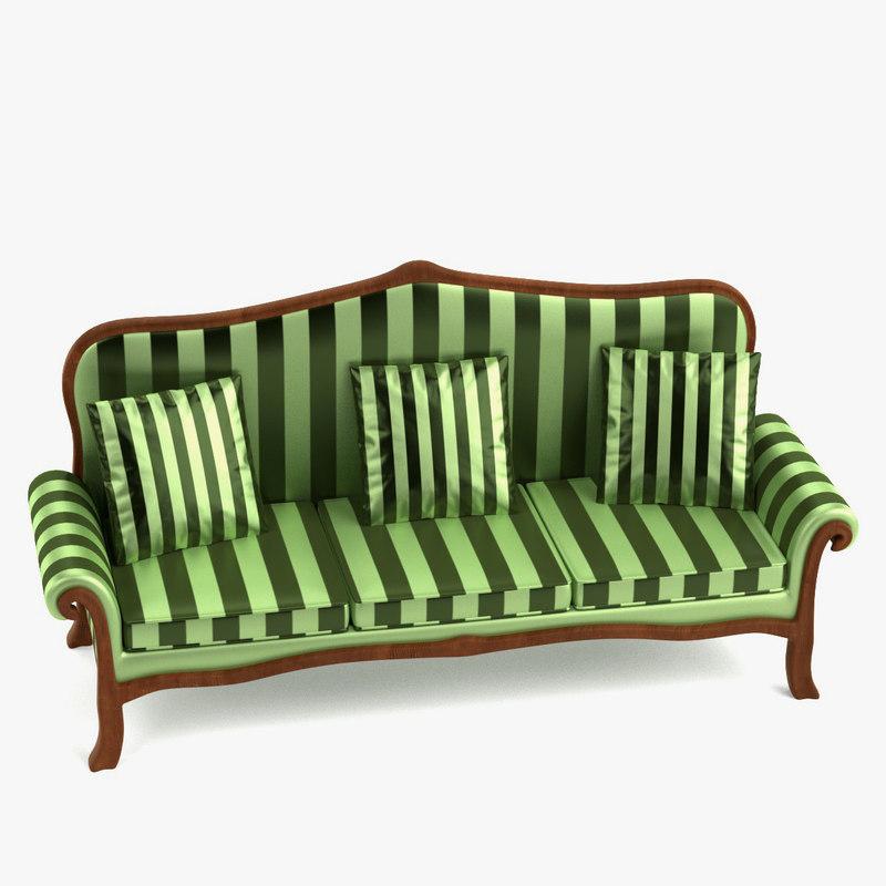 antique sofa 3d model